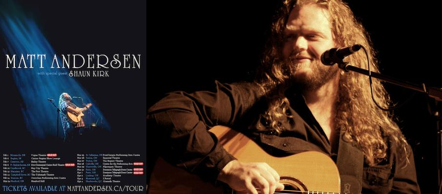Matt Andersen at NAC Southam Hall