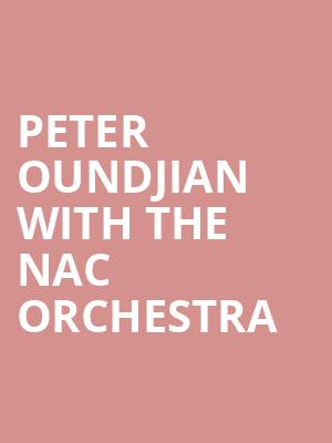 Peter Oundjian with the NAC Orchestra at NAC Southam Hall