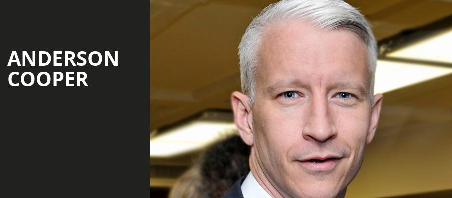Anderson Cooper, NAC Southam Hall, Ottawa
